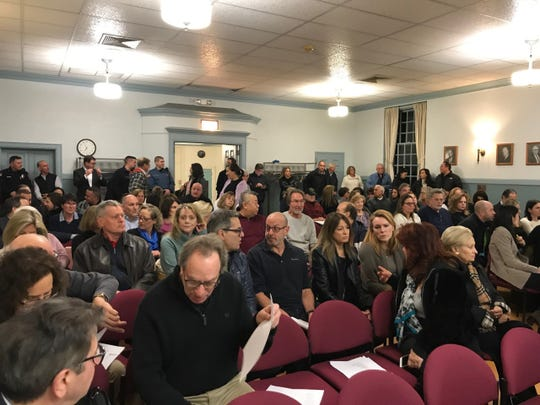 Saddle River council chambers were packed with residents and neighbors Monday protesting its affordable housing settlement.