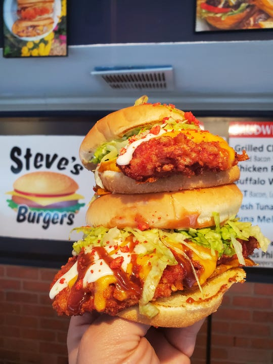"""""""The Hot Mama,"""" a new chicken sandwich at Steve's Burgers in Garfield."""