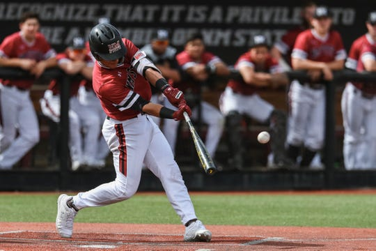 Nick Gonzales and the New Mexico State baseball team begin a three-game series at No. 20 Texas A&M on Friday.