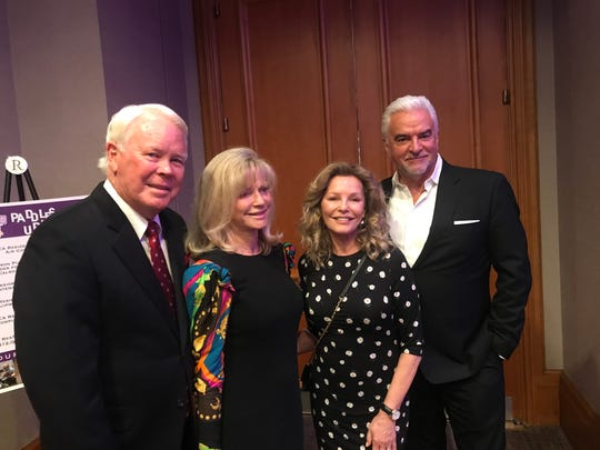 Honorees Bill and Cindi Bone share a moment with hosts Cheryl Ladd and John O'Hurley.