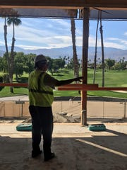 Frank Melon, general manager of The Lakes Country Club in Palm Desert, walks through interior of the clubhouse being renovated as part of a $19 million project that includes a new fitness center a 27-hole private club.