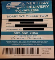 The Arizona Attorney General's Office filed a lawsuit against Valley Delivery and its owner Mark Willes for allegedly using fake delivery slips as a way to gather consumers' personal information and sell it to a third-party company, the office said.