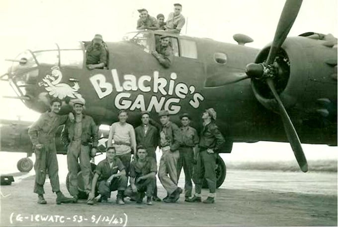 "Capt. John ""Blackie"" Porter, from Marysville, formed Blackie''s Gang,the first organized air search and rescue crew of WWII. It's believed the plane in the photo is the one Porter famously flew missions in the dangerous Himalayan Mountain Range known as ""The Hump,"" and his plane was shot down on Dec. 10, 1943. The remains of Porter and four of his crew have never been recovered. Questions now surround the mission of an self-described adventurer and his archeology team that was privately funded mostly by contributions raised in Marysville who had been paid to dig at the crash site and recover the remains."