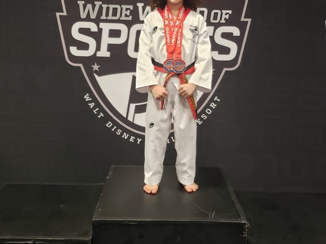 Joshua Aguirre, 8, of Lebanon placed third in two events at the U.S. Open Taekwondo Championships over the weekend