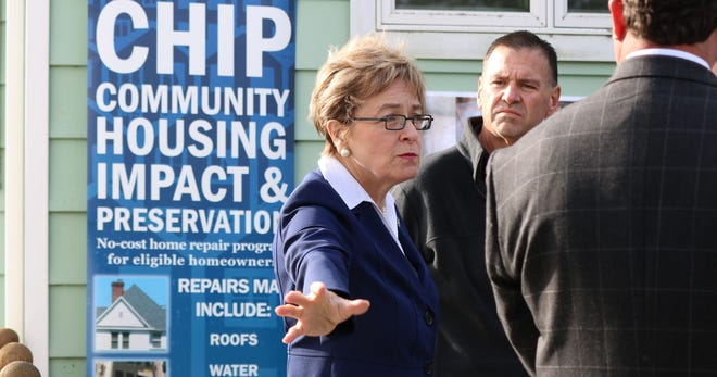 U.S. Rep. Marcy Kaptur, D-Toledo, discusses the federal CHIP program at a participating Ottawa County home in October 2017.