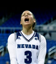 Nevada's Essence Booker had 10 points in the Pack's 75-71 loss to Fresno State on Monday in the Mountain West Conference tournament in Las Vegas.