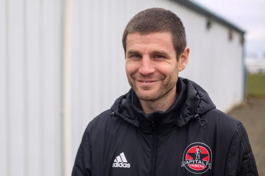 Collin Box, executive director of the Capital FC Timbers, poses for a portrait at Salem Indoor in Salem on March 2, 2020.