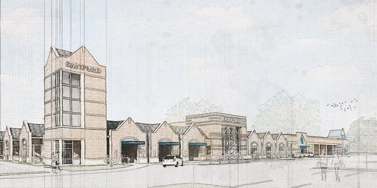A rendering showing Sanford Health's planned clinic for southeastern Sioux Falls