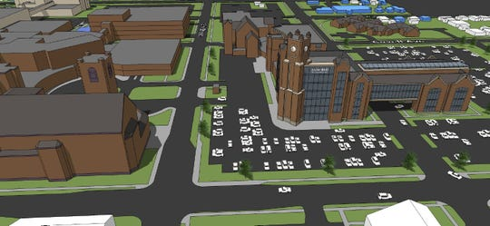 Renderings of Sanford Health's expansion.