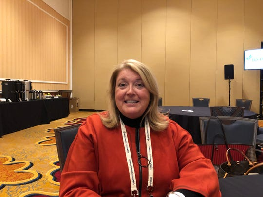 Karen Shannon, a vice-president at Springfield-based Ollis/Akers/Arney, at MoCannBizCon+Expo on Monday, March 2, 2020.