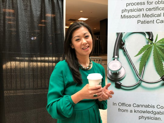 Mimi Vo, a St. Louis-based physician, talks about her new cannabis education venture as well as Miz Biz, a women's industry group unveiled at MoCannBizCon+Expo on Tuesday, March 3, 2020.