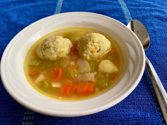 Homemade matzah ball soup is one of the treats at the Jewish Food Festival on Sunday, March 8.