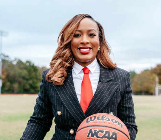 Former Florida High and Tallahassee Community College basketball player Brittany Christie works as an athletics assistant at TCC. She oversees community engagement for the sports programs.