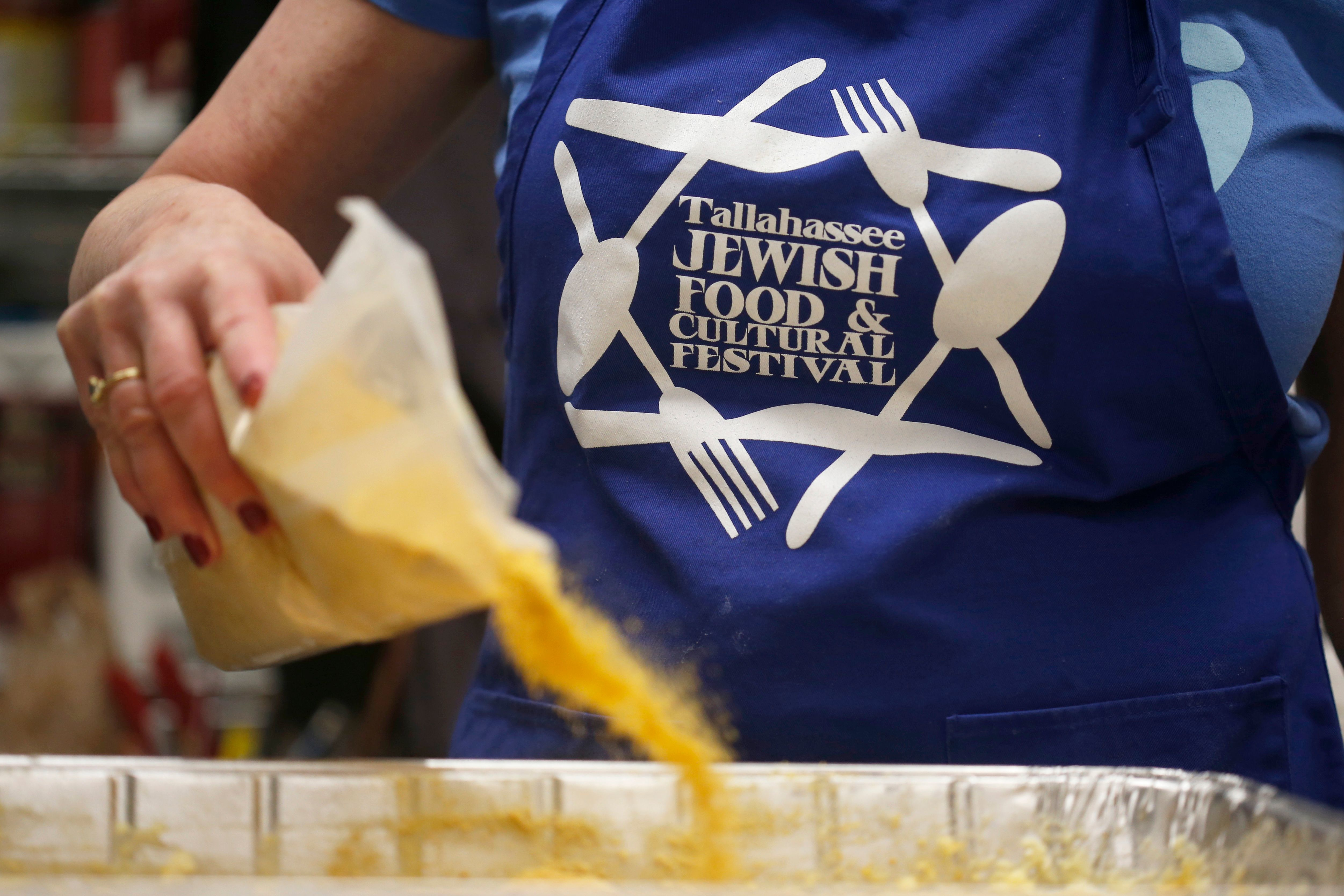 Preparing kugel for the annual Tallahassee Jewish Food & Cultural Festival set this year for March 8.