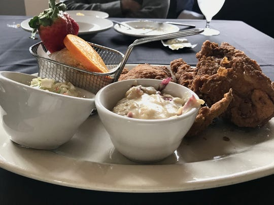 Fried chicken is crispy at the Edward Ball Dining Room at The Lodge at Wakulla Springs State Park.