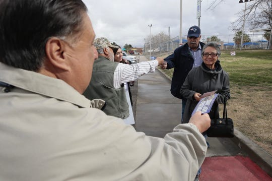Voters show up at various locations around El Paso for election day