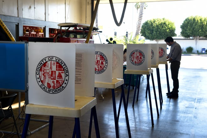 Voter turnout at Oxnard Fire Station No. 6 on Tuesday morning was a slow but steady start. Poll workers said three voters were at the station early in the morning waiting for the polls to open.