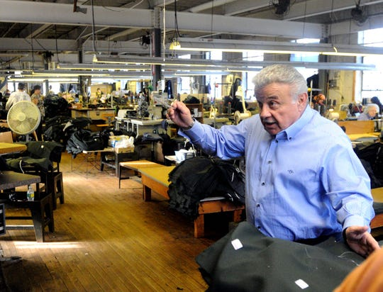 Donald E. DeRossi gives a tour of family owned DeRossi & Sons Co. on South Sixth Street in Vineland. The company manufactures U.S. Army uniforms.  (January 2010)