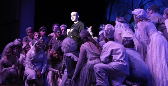 """Rehearsals are in progress for Delsea Regional High School's production of """"The Addams Family."""""""