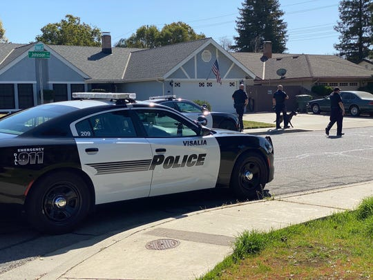 Visalia police are searching for a man who was seen trying to break into a home on Johnson Street.