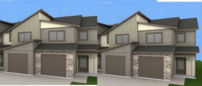 A rendering shows what new town homes could look like on Thomas Street in Wausau. The buildings were proposed by Aedifix Holdings and could take five years to complete.