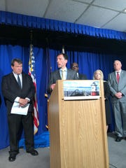 New Rochelle Mayor Noam Bramson speaks at the Westchester County government building on March 3, 2020, about a city resident who tested positive for coronavirus.