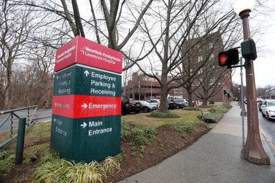 A Westchester County resident who was diagnosed with coronavirus was admitted to NewYork-Presbyterian Lawrence Hospital in Bronxville, photographed March 3, 2020, before being transferred to NewYork-Presbyterian/Columbia University Irving Medical Center in Manhattan.