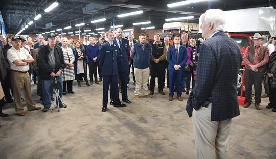 A crowd of people showed up to hear Senator John Cornyn speak Tuesday morning. Cornyn urged Wichitans to vote and talked about his respect for members of the military.