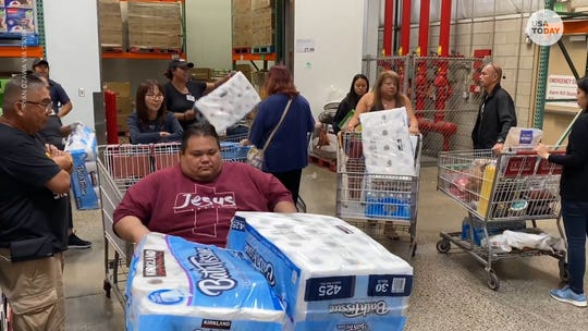 Shoppers worried about coronavirus are stocking up on toilet paper, hand sanitizer and other supplies even though supply chain experts say there's no need.