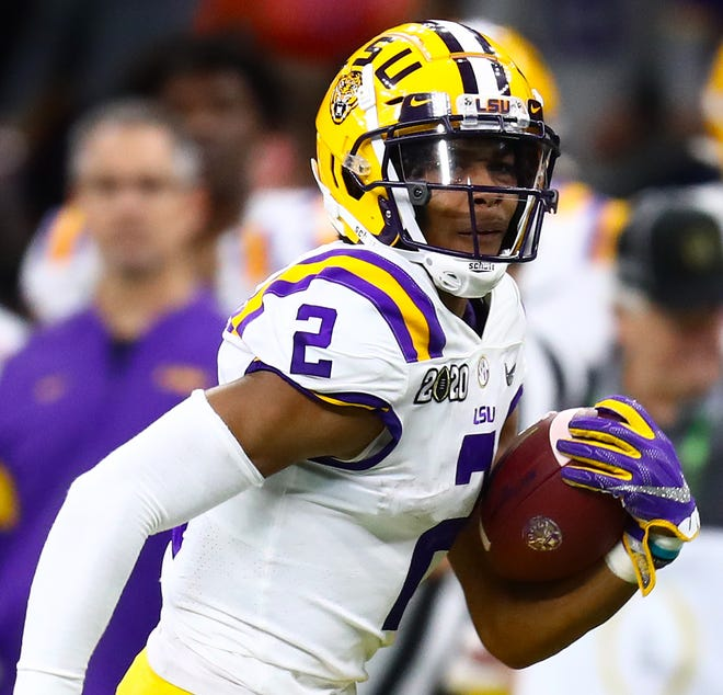 LSU receiver Justin Jefferson came up big in the national championship final-four games.