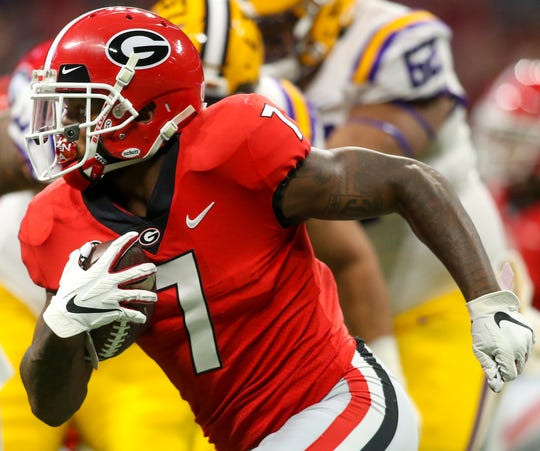 Former Georgia running back D'Andre Swift shapes up as a good fit for the Packers' outside-zone running scheme.