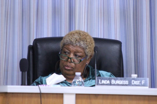 """Rapides Parish School Board member Linda Burgess sought to delay action on a motion to reorganize some departments. """"For us to continue to approve these organizational charts before we really understand what we're doing is not very wise at this point."""""""