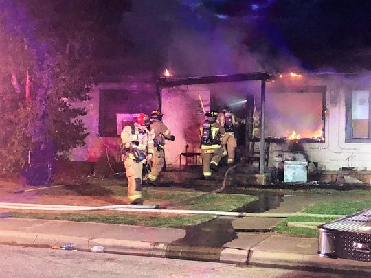 A duplex in the 4000 block of Redbud Circle caught fire on Tuesday, March 3, 2020.