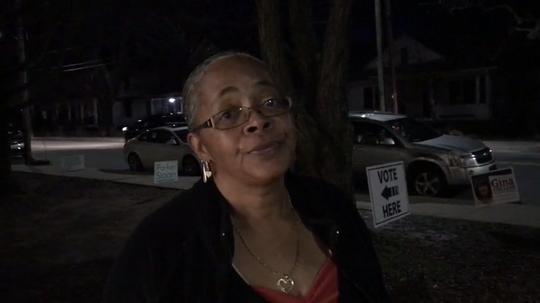Asheville native Sandra Chapell explains why she voted for Joe Biden on Super Tuesday.