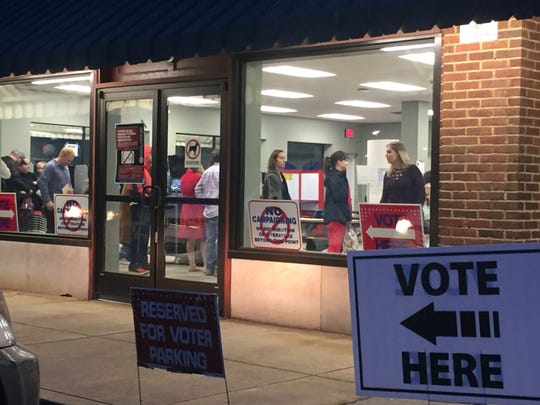 Voters at Enka-Candler Library get in their votes before the polls close on Super Tuesday, March 3, 2020.
