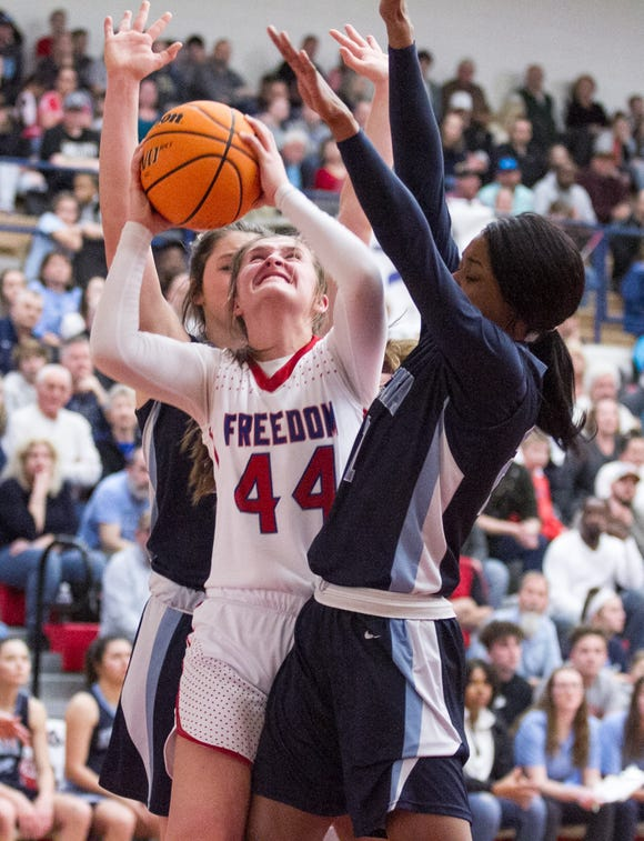 Freedom eliminated Enka in the fourth round of the NCHSAA 3A state tournament on March 4.