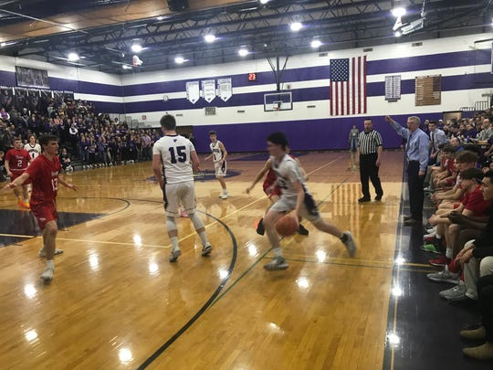 Action from Owego vs. Norwich in Class B semi, March 3, 2020.