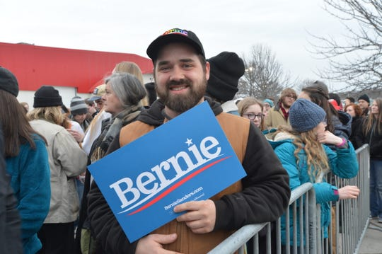 Jérémie Vachon of Montreal, Quebec traveled to Essex Junction on Super Tuesday to attend Bernie Sanders' home state rally.