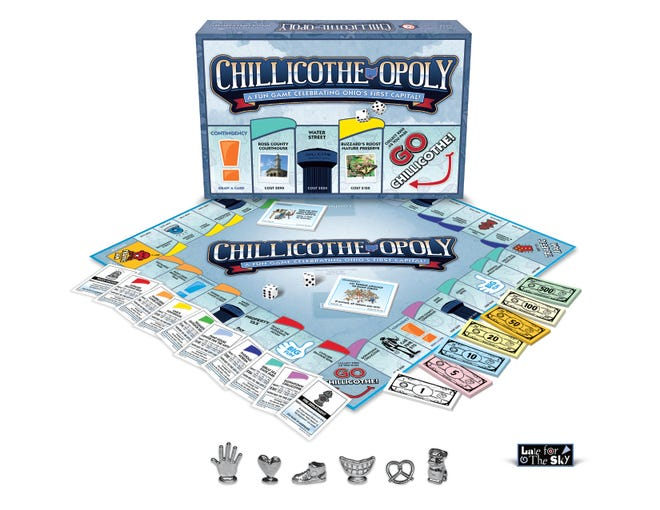 Late for the Sky, a Cincinnati based company, created a Monopoly style game featuring the city of Chillicothe and landmarks around town.