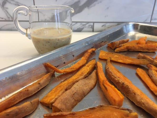 Sweet Potato Fries with seasoning salt.