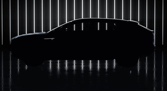 GM released a teaser image of the electric Cadillac Lyriq.