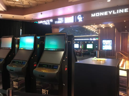 Sports-betting kiosks have been installed at MGM Grand Detroit.