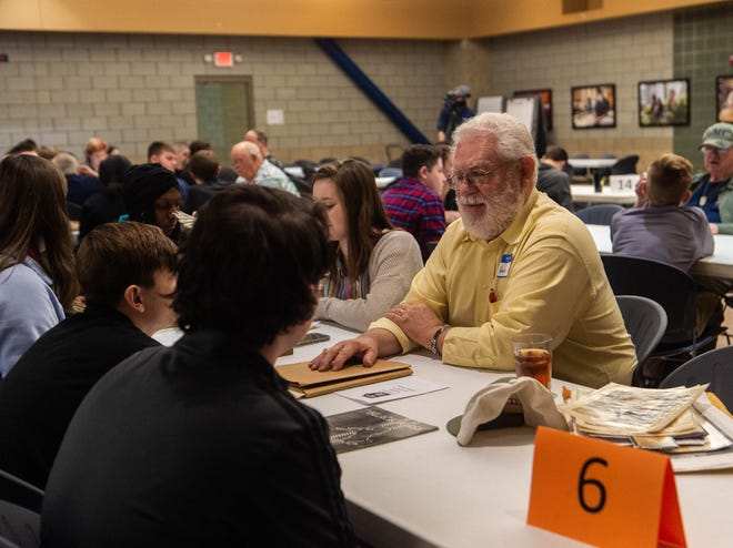New Tech students interviewed several military veterans during the 7th annual Hoosier Veteran Consortium Wednesday.