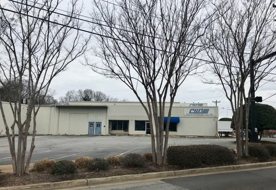 The former Cline Hose & Hydraulics property on Buncombe Street in Greenville is is awaiting developing.