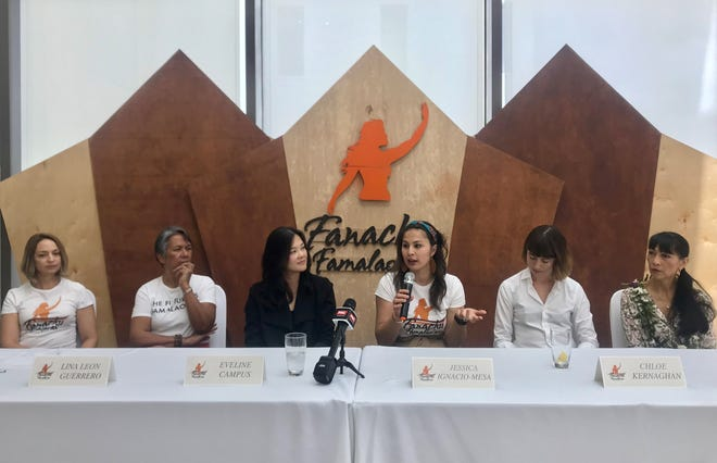 The key speakers at the Guam Women's Chamber of Commerce annual conference were, from left, Lina Leon Guerrero, Eveline Campus, Jessica Ignacio-Mesa and Chloe Kernaghan in this file photo from March at the Dusit Thani Guam. The Women's Chamber announced the results of its latest board election on Thursday.