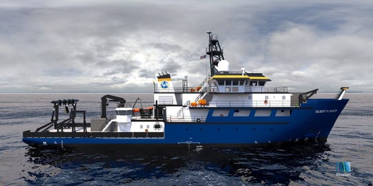 The University of Southern Mississippi's newest research vessel is named in honor of Gulf Coast civil rights leader Gilbert Mason. This is a rendering of ship, to be finished in 2023.