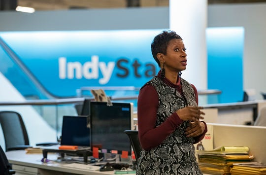 Katrice Hardy is announced as the new executive editor of The Indianapolis Star during a newsroom meeting on Wednesday.
