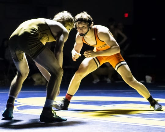 Brighton's Mason Shrader (right) is ranked second at 125 pounds and has a 38-6 record.