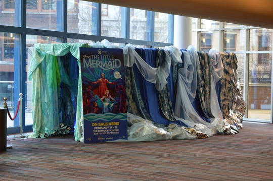 Western Middle School's 8th grade art class created this installation for The Little Mermaid part of PNC Broadway in Louisville.