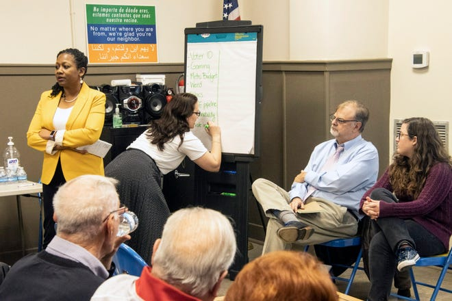 """Staff writers and editors took part in another installment of The Courier Journal's """"On Kentucky Politics"""" discussion at the Iroquois Library on Wednesday night."""